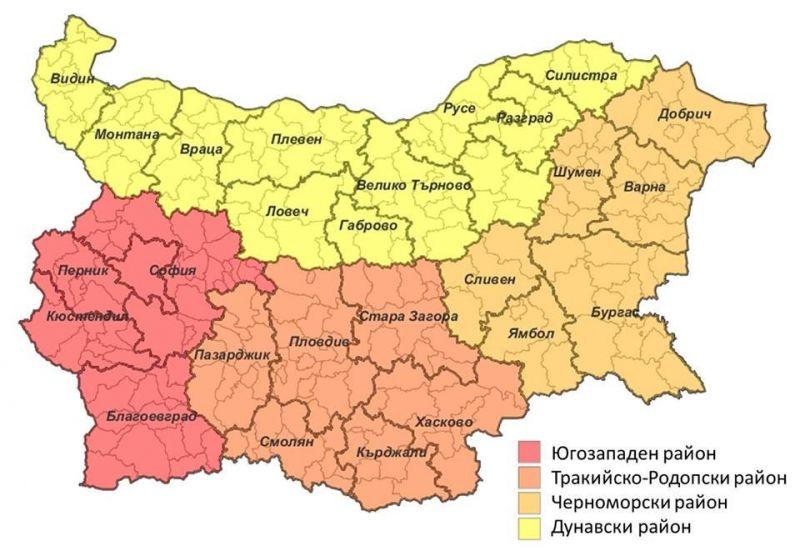 Novata Karta Shumen Otiva V Chernomorski Rajon Trgovishe I Razgrad